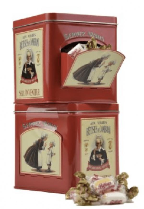 Boîte métal « servez-vous » bêtises de Cambrai